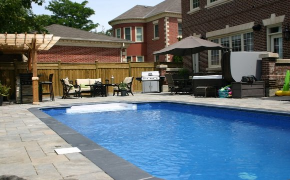 Backyard Pool Designs with Bar
