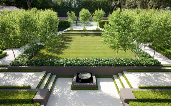 A modern landscape design