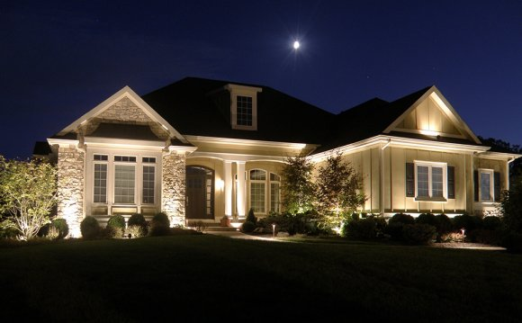 Bright Exterior House Lighting