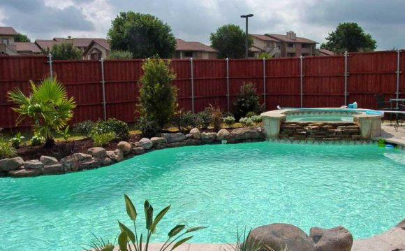 The following pool landscaping
