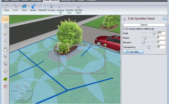 Landscape irrigation design software