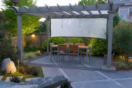 Led Dining Area Barbara Hilty Landscape Design LLC Portland, OR
