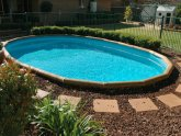 Above ground pool Design Landscaping