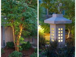 Tree Lighting And Stone Lantern Barbara Hilty Landscape Design LLC Portland, OR