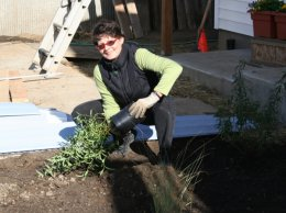 Vanessa at APLD Habitat for Humanity Planting Day