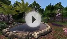 3D Back Yard Landscape Design - with Pond