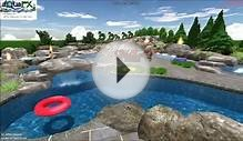3D Landscape Design Backyard Waterpark Conception!