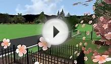 3D Landscape Design Rendering of Wall and Wrought Iron