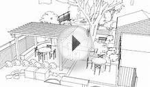 Architectural Garden Landscape Design - 3D Animated Drawing