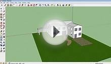 Google Sketchup tutorial 10 - Making a garden, paths and patio