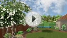 Landscape Design backyard flower garden by Earthwise