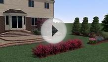 New construction 3D landscape design on golf course