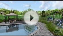 Pool and Landscape Designed by Rutgers Landscape